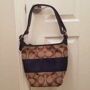 Coach classic shoulder bag dark blue